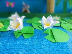 Origami - Lotus Flower & Leaf / 종이접기 - 연꽃과 연잎 - YouTube