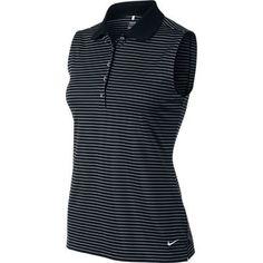 Nike Golf Ladies Tech Sleeveless Stripe Polo