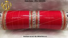 """175 Likes, 2 Comments - Punjabi Traditional Jewellery™ (@punjabijewellery) on Instagram: """"Punjabi Traditional """"Red & Gold Wedding Chura"""" Item Code - PTJ CH0055 For price please inbox with…"""""""