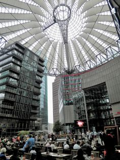 Sony Center on the Potsdamer Platz, Berlin, 2000, by Helmut Jahn (1940)