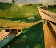 "Richard Diebenkorn - Freeway and Aqueduct, 1957. Oil on canvas. 59,2 x 71,1 cm (23.3"" x 28"")For more Fine Arts follow galer..."