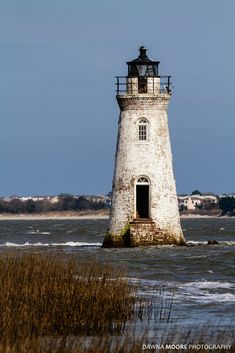 Cockspur Island Lighthouse, Savannah River, Georgia by Dawna Moore - Photo 66897401 / - Spring Nails Lighthouse Pictures, Lighthouse Keeper, Am Meer, Water Tower, Savannah Chat, Savannah Georgia, Beautiful Places, Places To Visit, Scenery