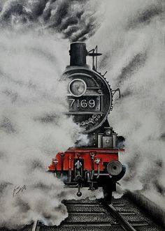 Painting: Smokey Artist: Saikat Choudhury Painting Size: 46 x 30 x 12 inches Painting Medium: Charcoal,Dry Pastels Surface: Acidfree Paper Shipping Condition: Rolled Landscape Pencil Drawings, Landscape Sketch, Pencil Art Drawings, Music Drawings, Cool Art Drawings, Art Drawings Sketches, Hipster Drawings, Drawing Faces, Manga Drawing