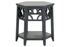 Silas End Table, Charcoal on OneKingsLane.com