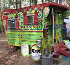 Gypsy Wagon - love the transformation from old canned ham trailer.