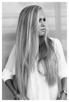 I want my hair to be THIS long.