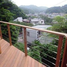 鎌倉市N邸高架デッキ  ワイヤーフェンス