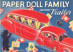 Paper Doll Family and their Trailer