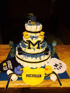 University of michigan on pinterest michigan wolverines for M m cake decoration ideas