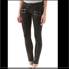 Paige Denim Edgemont Ultra Skinny Black Silk Jeans see pictures for description. never worn. Paige Jeans Pants Skinny