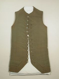 Waistcoat  National Trust Inventory Number 1349020 Date	1780 - 1790 Collection	Snowshill Wade Costume Collection, Gloucestershire (Accredited Museum)