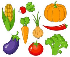 Vegetables Clip Art Cute Veggies Clipart by YarkoDesign on Etsy, $3.49