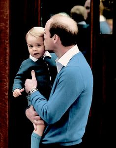 cambridgefamily:  Prince George gets a kiss from dad, May 2, 2015