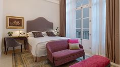 Centrally located in Palma de Mallorca, the Gloria de Sant Jaume is a centrally located hotel in the city, set in a palace. Gold Framed Mirror, Steam Bath, Five Star Hotel, Marble Floor, Architectural Elements, Hotel Palma, Couch, Contemporary, The Originals