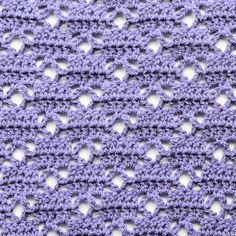 Lattice Loop Free Crochet Stitch Tutorial Stitch Multiple Chain any multiple of 10 and then add 19 D Crochet Stitches For Blankets, Crochet Stitches Patterns, Knitting Stitches, Stitch Patterns, Diy Crochet Projects, Crochet Diy, Crochet Crafts, Confection Au Crochet, Crochet Instructions