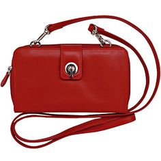 """Ili Leather Smartphone Case/Wallet/Crossbody Body of bag: 7.5"""" L x 4"""" H x 1"""" W.Genuine leather with RFID (Radio Frequency Identification).Cell phone fits in the toggle compartment.  http://dailydealfeeds.com/shop/ili-leather-smartphone-casewalletcrossbody/"""