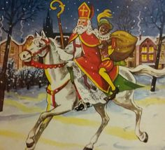 Sinterklaas Santa Pictures, Catholic Art, Patron Saints, December, Elf, Christmas, Dutch, Paintings, Vintage
