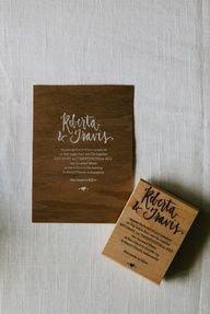 DIY Wedding invitation stamps by AllieRuth