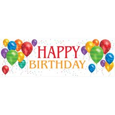 Balloon Blast Giant 20 x 60 Inch Happy Birthday Party Banner/Case of 6 Tags: Balloon Blast; Banners; General Birthday; general birthday party ideas;general birthday party decorations;milestone birthday party ideas; https://www.ktsupply.com/products/32786323766/Balloon-Blast-Giant-20-x-60-Inch-Happy-Birthday-Party-BannerCase-of-6.html