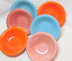 Vintage Harlequin China Bowls Art Deco Bowls Red Rose Mauve Turquoise Orange Small Bowls Fiestaware Riviera Bowls 1930-1950 Dinnerware Bowls  sc 1 st  Pinterest & Vintage Harlequin Plates Yellow Harlequin Plates Fiestaware ...