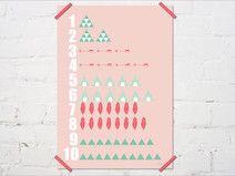 123 Zahlen Poster für Kinderzimer, als Geschenk