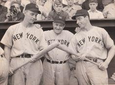 Babe Dahlgren, Joe McCarthy and Joe DiMaggio (1939)