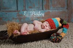 Knit Baby Boy Crochet  Elf Hat photography  prop by mybabybooties, $15.00