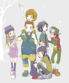 digimon frontier! Ugh! I love this picture! But, I see Neemon, but where's Bokomon?!