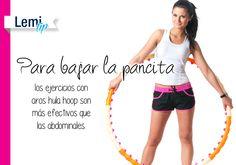 #Tip: Baja la pancita con #ejercicios con aros hula hoop. http://lemi.com.mx #fitness #salud #belleza #bienestar