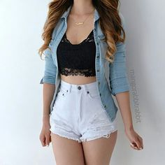 59 Spring Outfits To Wear Now Teenage Outfits, Teen Fashion Outfits, Cute Casual Outfits, Cute Summer Outfits, Girly Outfits, Cute Fashion, Outfits For Teens, Stylish Outfits, Spring Outfits