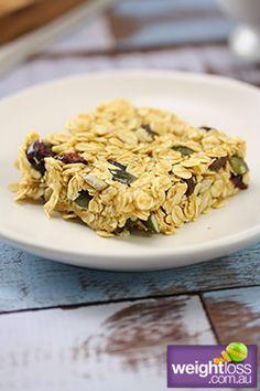 No Bake Oat Slice Recipe. #WeightLossRecipe #DietRecipe weightloss.com.au