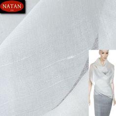 Organtyna jedwabna delikatna biała White - Włoskie luksusowe tkaniny i dzianiny. Najnowsze trendy. Ponad 4000 wzorów i kolorów: wełna, jedwab, kaszmir, wiskoza, bawełna, satyna Trendy, Italy, How To Make, Italia