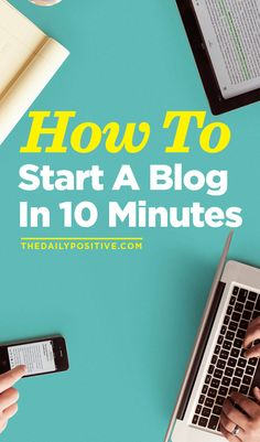If your looking for a way to start a blog in ten minutes, here is a must read!