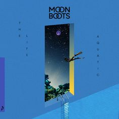 "After his song ""Tear My Heart"" and his Sofi Tukker remix, Moon Boots has revealed the second single from his upcoming album: ""The Life Aquatic"". Music Covers, Album Covers, Dm Poster, Album Cover Design, Moon Boots, Life Aquatic, Expo, Graphic Design Posters, Grafik Design"