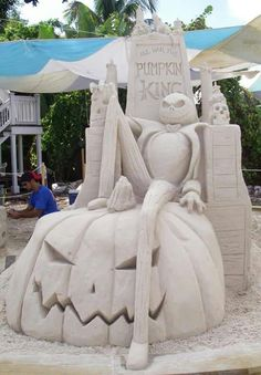 Nightmare Before Christmas - sand sculpture