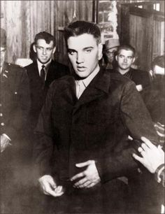 Rock'n roll legend Elvis Presley in file picture dated 26 March 1958 in Fort Chaffee at the beginning of his military service. Elvis spent 17 months in Friedberg, Germany, between October 1958 and March 1960 as a GI. Elvis Aaron Presley was born 08 January 1935 in Tupelo, Mississippi and was found dead 16 August 1977 from a   heart attack in his bathroom at Graceland, a colonial estate in Memphis, Tennessee. (Photo credit should read AFP/AFP/Getty Images)