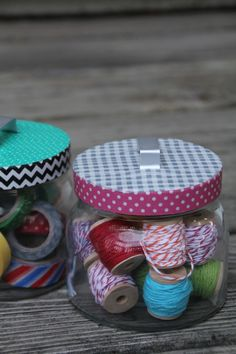 Washi Tape Storage Lids | DIY