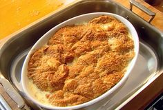 Croissant Bread Pudding === recipe correction ***the recipe calls for 8 eggs...use 3 whole eggs, plus 5 egg yolks...save the 5 egg whites for another recipe. Some reviewers recommend substitute the raisins for chocolate chips, blueberries, etc...gonna try this.