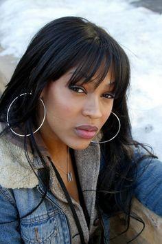 Beautiful Gorgeous, Beautiful Black Women, Beautiful Braids, Meghan Good, Finger Wave Hair, African American Beauty, Black Celebrities, Celebs, Types Of Girls