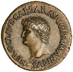 Bronze Dupondius of Nero, Lugdunum, AD 64 - AD 66. 1951.61.39
