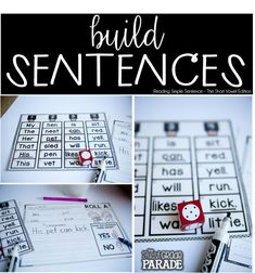 Reading and writing simple sentences are great independent and/or partner activities with LOTS of possibilities to make planning for writing a breeze!
