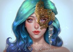ArtStation - The Star Sign - Aquarius, Abigail Diaz art Aquarius Images, Aquarius Art, Zodiac Signs Aquarius, Zodiac Art, Capricorn, Aquarius Aesthetic, Aesthetic Art, Person Drawing, Art Girl