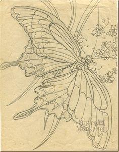 OlgaMoskalets: Батик рисунок бабочка