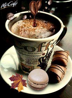 Good Morning Coffee Gif, Coffee Break, Coffee Latte, I Love Coffee, Good Morning Posters, Coffee Theme, Chocolate Espresso, Good Morning Flowers, Mini Desserts