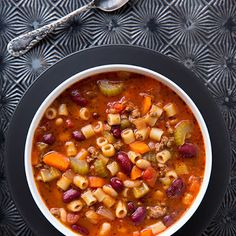 Olive Garden Pasta e Fagioli Soup Copycat Recipe @keyingredient #cheese #chicken #tomatoes #soup #italian