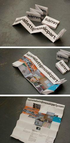 business card - portfolio inspirational idea / tarjeta de presentación que a la vez es un portafolio