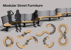 Modular Street Furniture – Famous Last Words Diy Furniture Renovation, Diy Furniture Cheap, Modular Furniture, Urban Furniture, City Furniture, Street Furniture, Furniture Plans, Furniture Design, Barbie Furniture