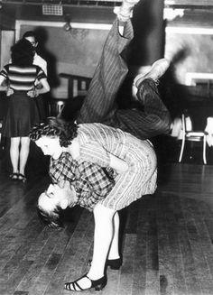 Dancing the Jitterbug, April 19th, 1940. Someone please teach me the jitterbug. Please.