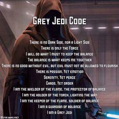 The Grey Jedi Code. #greyjedi #greyjedicode #georgelucas #lucasfilm #SW #starwars #starwarsfan #starwarsnerd #starwarsdaily #disney by star.wars.fact