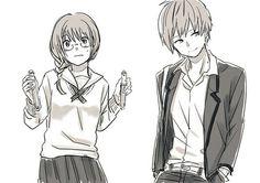 Karma x okuda Okuda, Assasination Classroom, Kuroken, Okikagu, Kagehina, Anime Ships, Assassin, Me Me Me Anime, Anime Couples